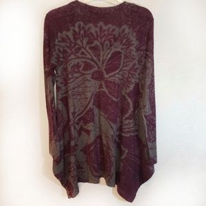 Soft Surrondings Floral Print Tunic Sweater